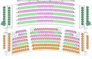 Historic Theater Lower Level Seating Chart